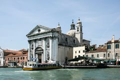 Venice, Italy - June 21, 2010: The Church of I Gesuati Sta Maria del Rosario on the Zattere in Venice Stock Images