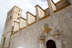 Church from ibiza Castle Santa Maria Cathedral Stock Photos