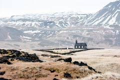 Church in Iceland. Beautiful landscape with a christian church in Iceland Royalty Free Stock Image