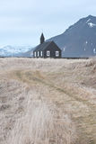 Church in Iceland. Beautiful landscape with a christian church in Iceland Royalty Free Stock Images
