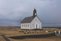 Church in Iceland. Beautiful landscape with a christian church in Iceland Stock Photo