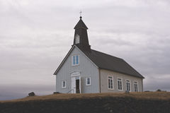 Church in Iceland. Beautiful landscape with a christian church in Iceland Royalty Free Stock Photos