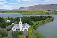 Church in Iceland are small and giving.This one is big.