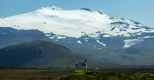 Church in Iceland royalty free stock photo