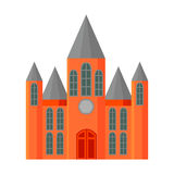 Church icon cartoon. Single building icon from the big city infrastructure set. Stock Photography