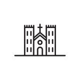 Church icon Catholic Basilica. Catholic Basilica icon vector isolated on white background Royalty Free Stock Photos