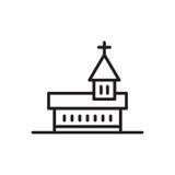 Church icon Catholic Basilica. Catholic Basilica icon vector isolated on white background Stock Photo