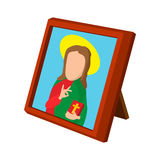 Church icon depicting St cartoon icon. On a white background Royalty Free Stock Photo