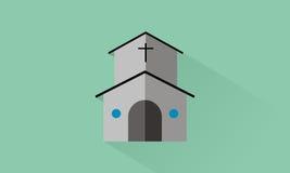 Church. Icon church flat design Stock Image