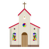 Church icon. Flat design, illustration stock illustration