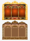 Church icon frame pattern Royalty Free Stock Image