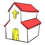 Church icon in icon cartoon Stock Image
