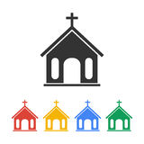 Church icon.  illustration Royalty Free Stock Photos