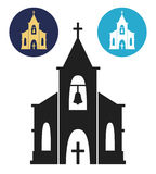 Church icon isolated on white background. Royalty Free Stock Images