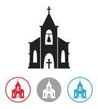 Church icon isolated on white background. Royalty Free Stock Photo