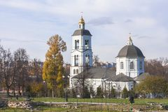 Church of the icon of the mother of God `life-giving source` in the State historical, architectural, art and landscape Museum-rese. Rve Tsaritsyno. In Moscow Stock Photo