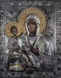 Church icon of Mother of God Mary and child Jesus Christ. Symbol christianity Royalty Free Stock Image