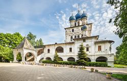 Our Lady of Kazan church in Kolomenskoye park, Moscow, Russia stock images