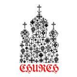 Church icon. Religion christianity cross symbols royalty free illustration