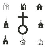 Church icon set. Church vector icons set. Illustration for graphic and web design Stock Illustration