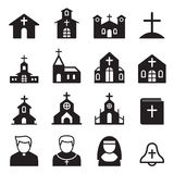Church icon silhouette Royalty Free Stock Photo