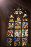 Church icon stained glass window Stock Photography