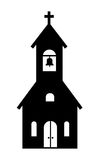 Church icon. Vector black Church icon on white background Royalty Free Stock Images