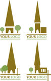 Church icons. Set of five icons for designs/logos related to church/religion/christianity Stock Images