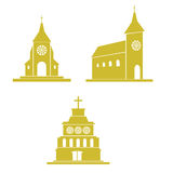 Church icons Royalty Free Stock Photography