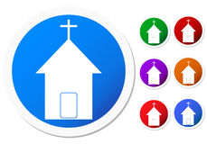 Church icons Royalty Free Stock Image