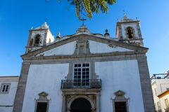 Church Igreja de Santo安东尼奥,城市拉各斯在葡萄牙 库存照片