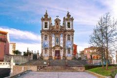 Church Igreja de Santo Ildefonso, Πόρτο, Πορτογαλία Στοκ Εικόνα
