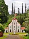Church in the Ile des Pins in New Caledonia Royalty Free Stock Photography