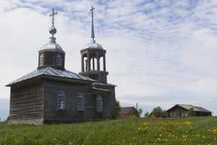 Church Ilii of the Prophet in a village Moiseevskaya, Verhovazhskogo District, Vologda Region Royalty Free Stock Photography