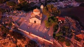 Church Ilya in Protaras Cyprus aerial 4k stock footage