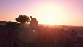 Church Ilya in Protaras Cyprus aerial 4k stock video