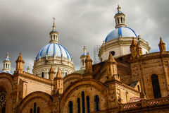 The Church of the Immaculate Conception in Cuenca, Ecuador. The Cathedral of the Immaculate Conception in Cuenca in Ecuador royalty free stock image