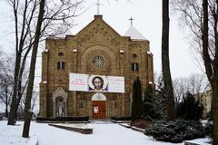 Church of the Immaculate Conception Mary in Vilnius city Stock Images