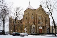 Church of the Immaculate Conception Mary in Vilnius city Royalty Free Stock Images