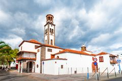 Church of the Immaculate Conception, Santa Cruz de Tenerife, Canary Islands, Spain:  Beautiful church in a sunny day. Church of the Immaculate Conception, Santa royalty free stock image