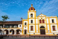 Church of the Immaculate Conception View. View of the beautiful Church of the Immaculate Conception in Mompox, Colombia stock photos