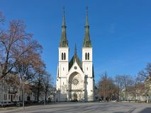 Church of the Immaculate Conception of the Virgin Mary in Ostrava, Czech Republic royalty free stock photo