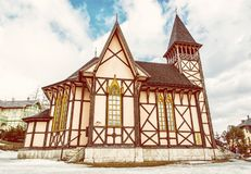Church of the Immaculate Conception of Virgin Mary, Stary Smokov. The Church of the Immaculate Conception of the Virgin Mary, Stary Smokovec, High Tatras Royalty Free Stock Photos
