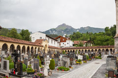 Church in Imst with cemetery Royalty Free Stock Photo