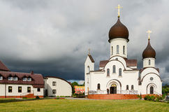 Church In Honor Of Protection Of Mother Of God And In Name Of Sa Royalty Free Stock Photography