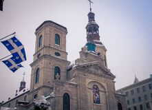 Church In Old Quebec City Royalty Free Stock Image