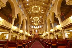 Free Church In Orange Atmosphere, Helsinki, Finland Stock Photo - 129784480
