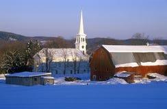 Free Church In Peacham, VT In Snow In Winter Stock Image - 52270391