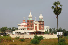 Church in India. Big church in the state of Andhra pradesh in India Royalty Free Stock Images