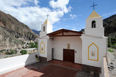Church of the indian village of Iruya Royalty Free Stock Photography